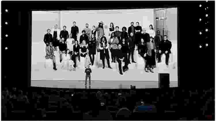 Tim Cook agradeceu aos profissionais que farão parte dessa 1ª etapa do novo serviço de assinaturas de vídeo - Reprodução