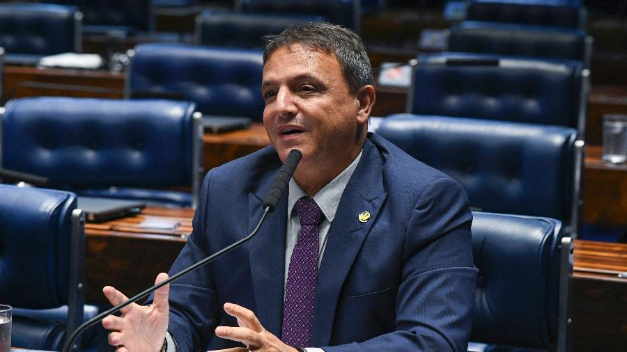 20.mar.2019 - À bancada, em pronunciamento, senador Marcio Bittar (MDB-AC) - Jefferson Rudy/Agência Senado