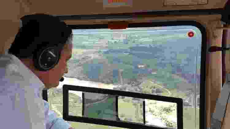 14.jul.2019 - O governador Rui Costa sobrevoou a região atingida pelo transbordamento e rompimento de barragem na Bahia - Divulgação/Governo da Bahia - Divulgação/Governo da Bahia