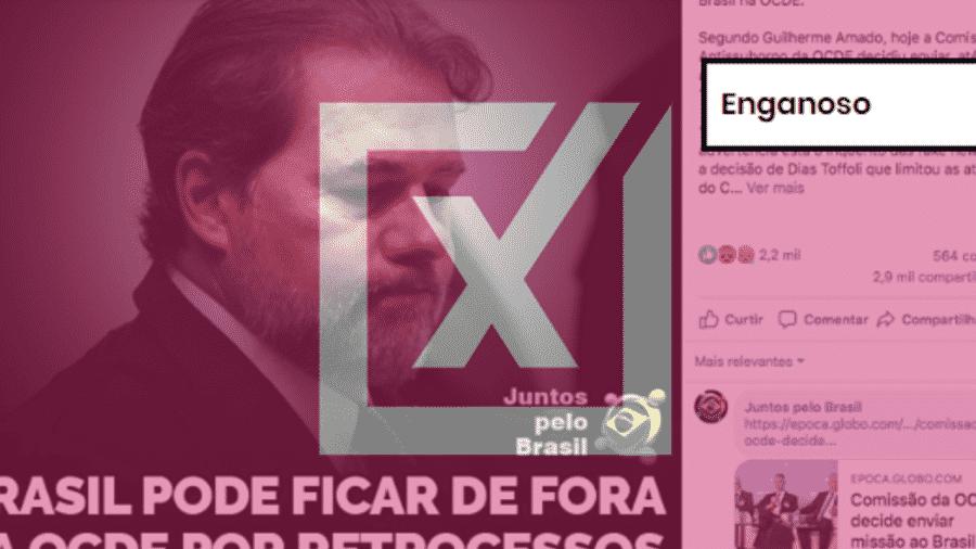 Post falso diz que atraso da entrada do Brasil na OCDE está relacionado com retrocesso no combate à corrupção  - Reprodução/Comprova