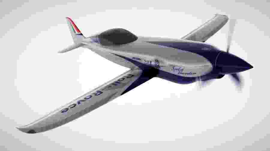 Avião elétrico desenvolvido pela Rolls-Royce - Divulgação