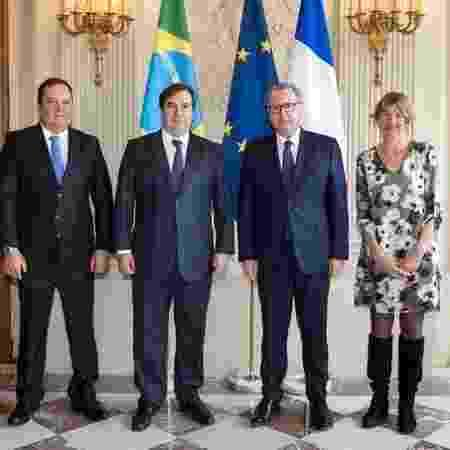 O presidente da Câmara, Rodrigo Maia (DEM-RJ), em compromisso em Paris, na França - Rodrigo Maia/Divulgação