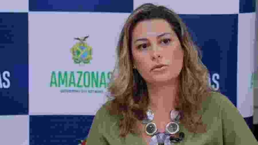 Simone Papaiz durante entrevista sobre a epidemia de covid-19, em abril deste ano - Diego Peres/Secom
