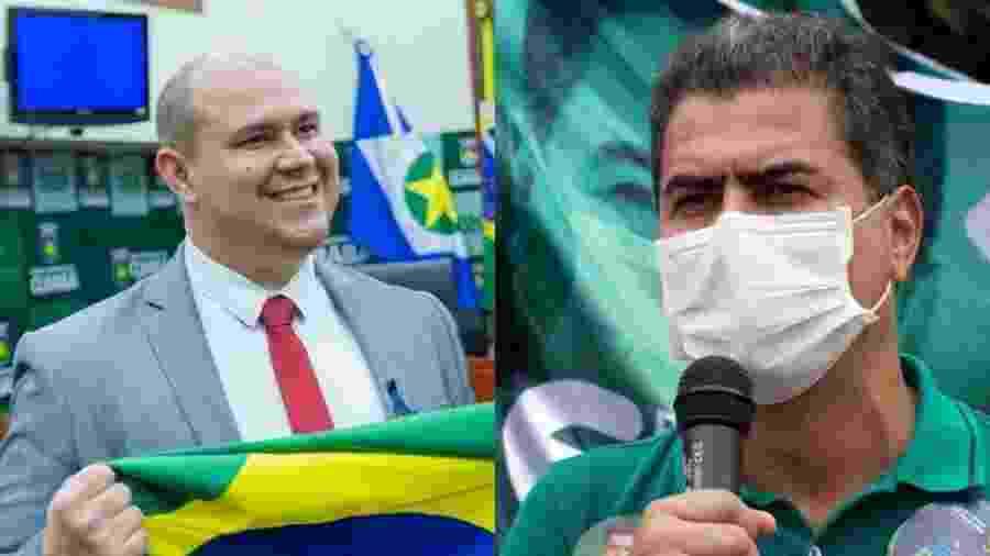 Abilio (Podemos) e Emanuel Pinheiro (MDB), adversários no 2º turno da eleição em Cuiabá (MT) - Reprodução/Facebook