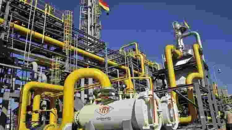 Em relação às exportações, uma fonte essencial de recursos para a Bolívia é a venda de gás natural para países do Cone Sul - GETTY IMAGES - GETTY IMAGES