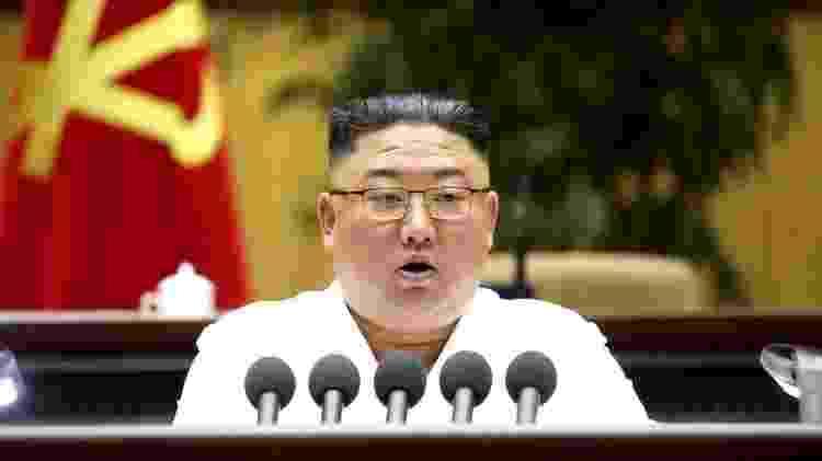 "Kim se referiu à fala estrangeira, estilos de cabelo e roupas como ""venenos perigosos"" - EPA - EPA"