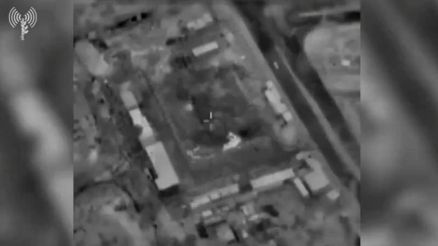 Foto mostra edifícios em Gaza vistos de um avião de guerra antes de um ataque aéreo em 16 de junho de 2021 - IDF via Reuters
