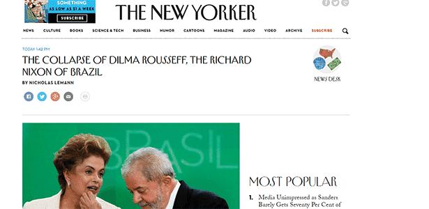Artigo da revista 'New Yorker' - Reprodução/New Yorker - Reprodução/New Yorker