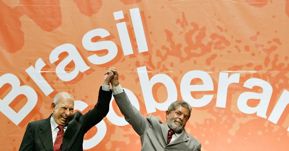 O presidente Lula e o vice José Alencar
