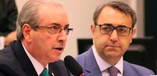 O deputado e presidente afastado da Câmara, Eduardo Cunha (PMDB-RJ), depõe no Conselho de Ética