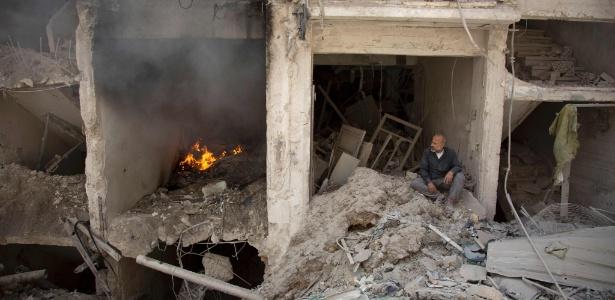 Cidade de Aleppo ficou destruída por conta da guerra civil na Síria