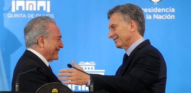 Temer se encontrou com o presidente da Argentina, Mauricio Macri, em outubro de 2016