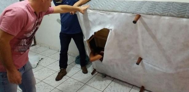 Policiais civis encontram foragido escondido dentro de uma cama box em Andradina (SP)