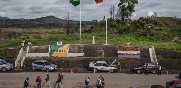 Fronteira do Brasil com a Venzuela em Pacaraima