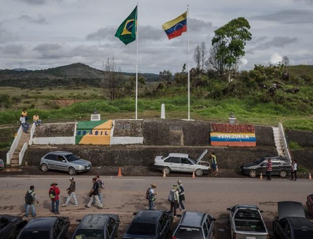 Fronteira do Brasil com a Venezuela em Pacaraima (RR)