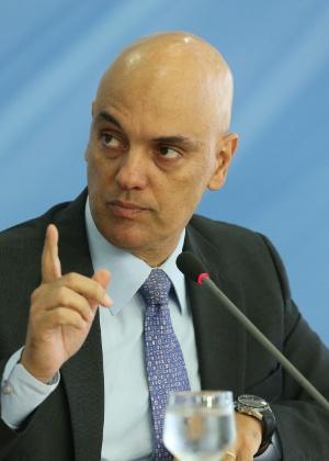 6.jan.2017 - Alexandre de Moraes detalha Plano Nacional de Segurança no Palácio do Planalto, em Brasília
