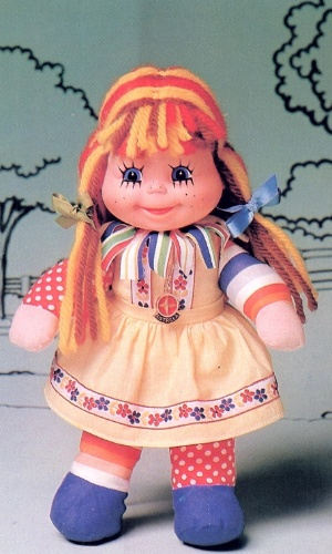 A boneca Emília do Sítio do Picapau Amarelo foi lançada em 1970