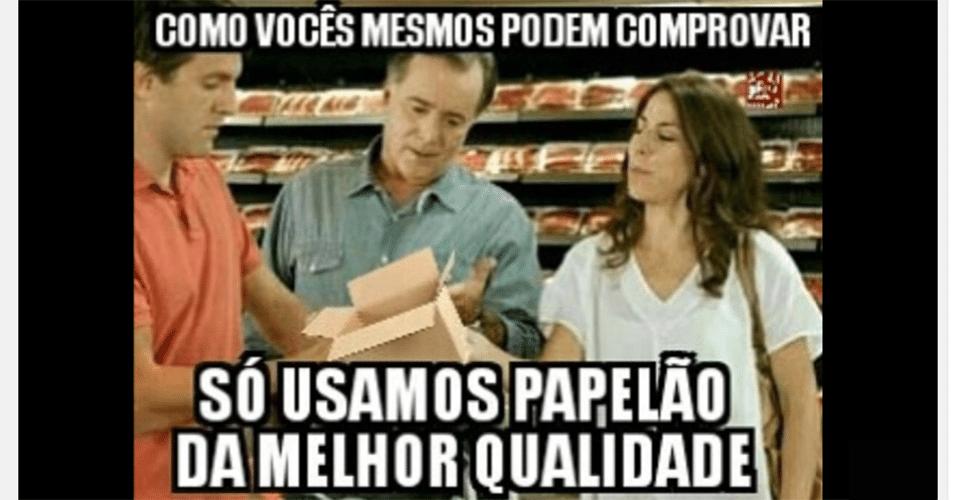 Memes da carne: papelão da melhor qualidade