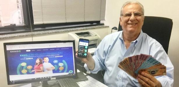 O empresário Permínio Moreira é criador da star-up Ekko, que funciona por um aplicativo