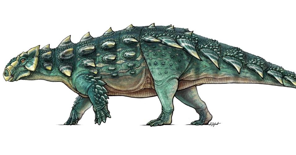 Ilustração de espécie de dinossauro recém-descoberta no Norte de Montanta, Estados Unidos. Apelidado de