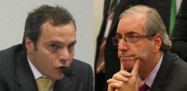 Funaro (à esq.) e Cunha foram acusados de obter ilegalmente ganhos de quase R$ 2 mi - Arte UOL