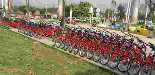 90% das 1.200 bicicletas que a Wukong Bicycle colocou nas ruas foram depredadas - Divulgação/Wukong Bicycle