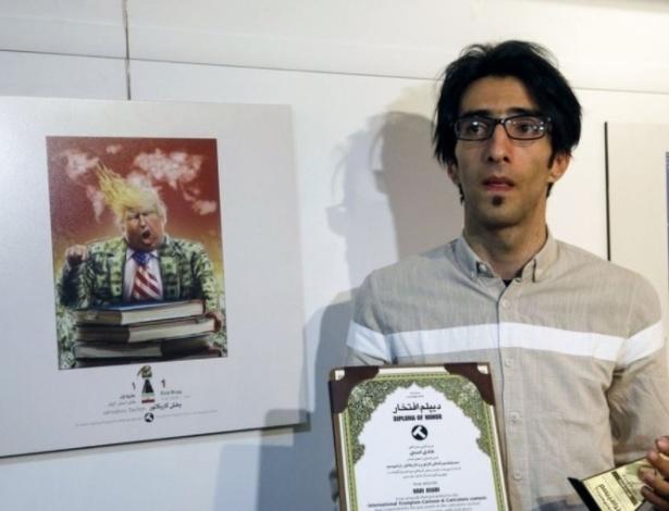O presidente dos EUA, Donald Trump, foi ridicularizado em competição de caricaturas no Irã