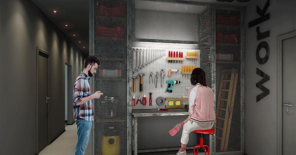 Imagem ilustrativa de espaço para utensílios do prédio da construtora Vitacon, em São Paulo