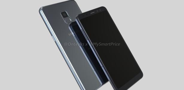 Vazamento do visual do Galaxy S8 da Samsung - Reprodução/@OnLeaks