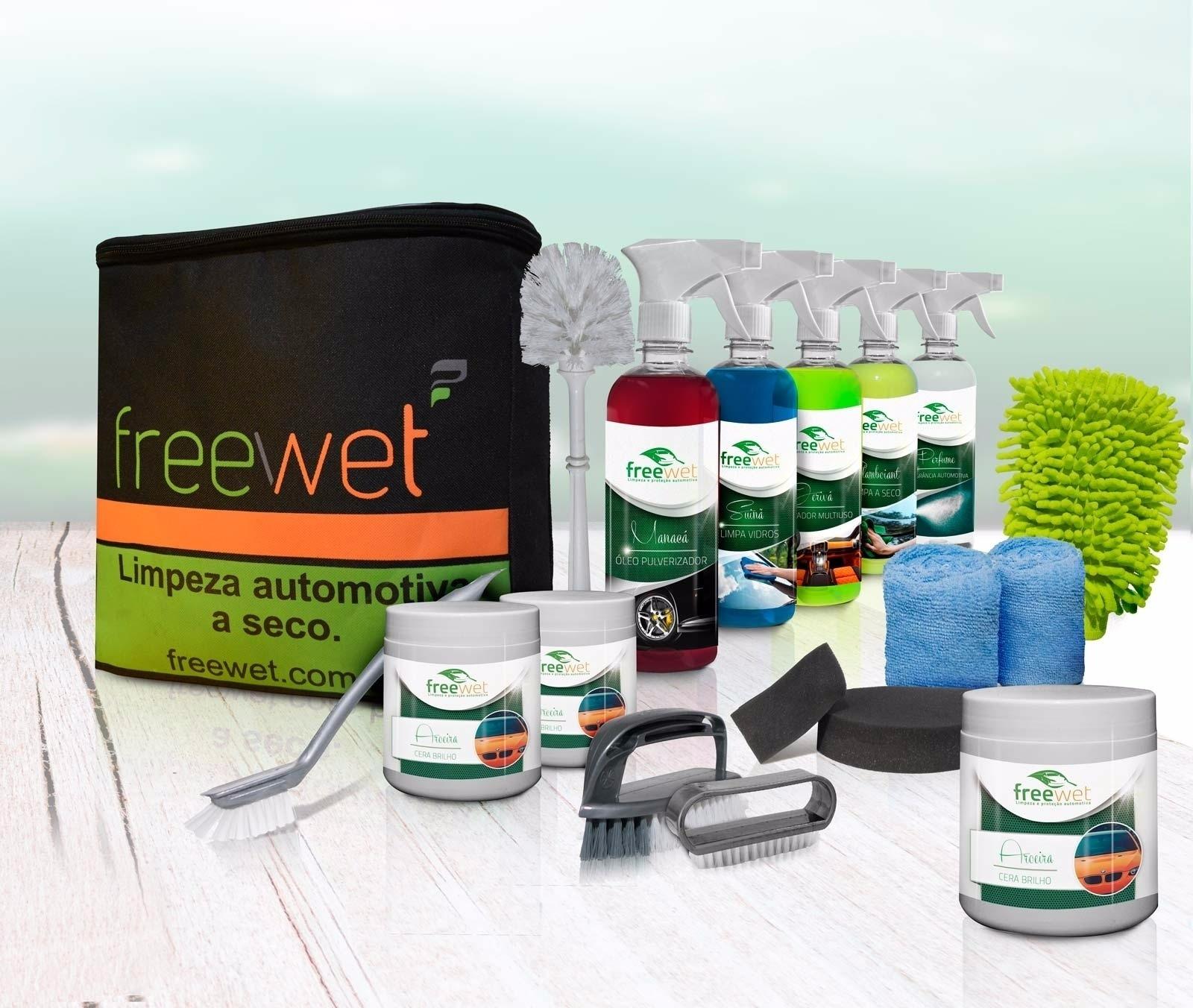 Freewet limpeza e proteção automotiva a seco