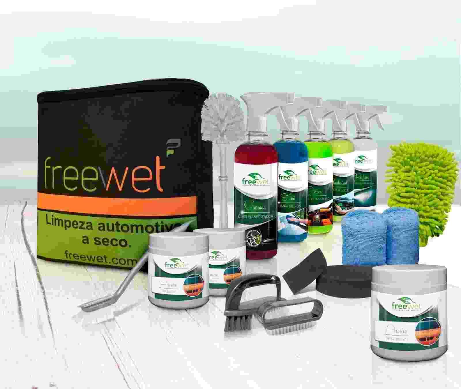 Freewet limpeza e proteção automotiva a seco - Divulgação