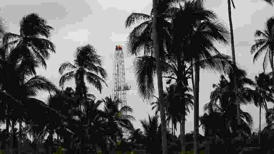 Plataforma de petróleo da Pemex em Paraiso, no México - Carlos Jasso/Reuters