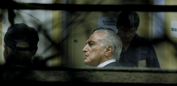 09.mai.2019 - O ex-presidente Michel Temer realiza exame de corpo de delito no IML Central em São Paulo