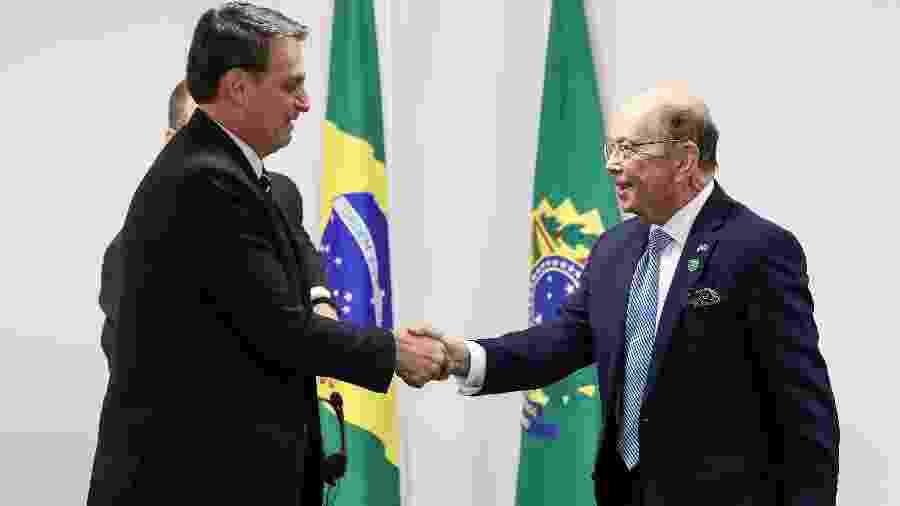 31.jul.2019 - Bolsonaro recebe o secretário de comércio dos Estados Unidos, Wilbur Ross (à dir.), no Palácio do Planalto - Marcos Corrêa/Presidência da República/AFP