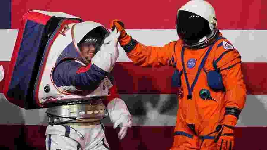 Nasa apresenta novos trajes para viagem à Lua - Xinhua/Liu Jie