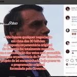 Página no Instagram ligada ao gabinete de Eduardo Bolsonaro dissemina notícias falsas - Reprodução