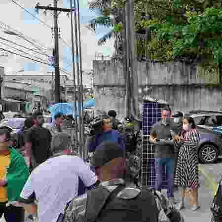 29.mar.2020 - Manifestantes são detidos por participação em carreata durante quarentena em Belém (Pará) - Reprodução
