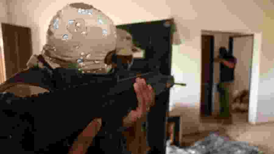 50 agentes participaram da reprodução da operação - Alberto Maraux/SSP-BA