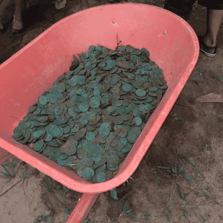 Centenas de moedas com mais de 200 anos foram encontradas no Pará - Divulgação/Prefeitura de Colares - Divulgação/Prefeitura de Colares