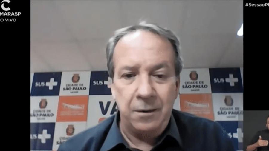 Edson Aparecido, secretário municipal de Saúde de São Paulo - Reprodução/Youtube/Câmara Municipal de São Paulo
