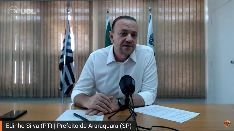 O prefeito de Araraquara Edinho Silva (PT) - Reprodução / Youtube