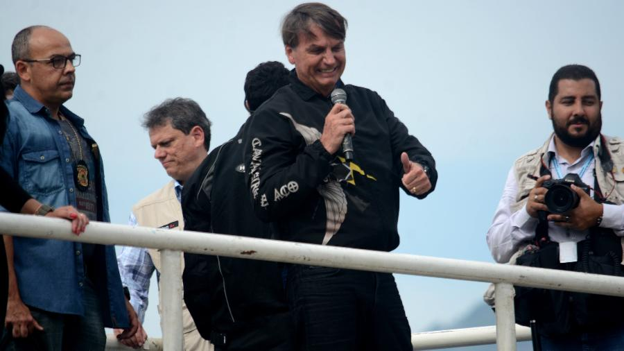 """Ontem, durante transmissão ao vivo, Bolsonaro, sem citar Doria nominalmente, chamou o governador de """"hipócrita"""" - Jorge Hely/Framephoto/Estadão Conteúdo"""