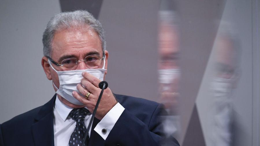 Arquivo - O ministro da Saúde, Marcelo Queiroga, prometeu redução do intervalo entre doses a partir de 15 de setembro - Jefferson Rudy/Agência Senado