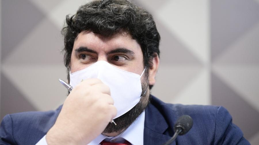 Marconny Faria presta depoimento para a CPI da Covid - Pedro França/Agência Senado