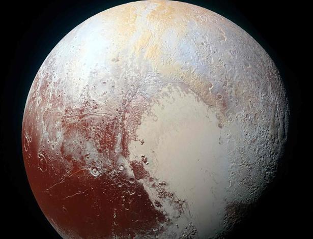 Imagem do planeta-anão Plutão feita pela aeronave New Horizons