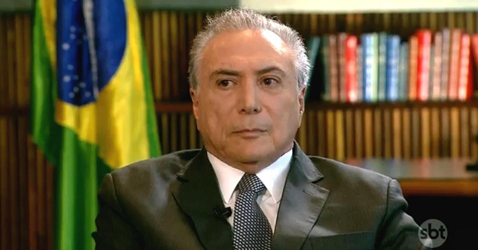 Resultado de imagem para Temer sbt brasil