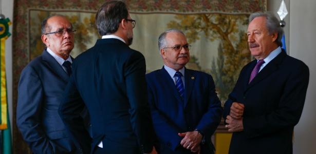 Ministros do STF Gilmar Mendes, Dias Toffoli, Edson Fachin e Ricardo Lewandowski