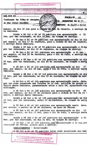 Em seus depoimentos à CEV-RJ, Paulo Malhães revelou ter ido a alguns municípios gaúchos. Segundo o militar, ele esteve em todas as cidades que possuíam unidades de Cavalaria do Exército