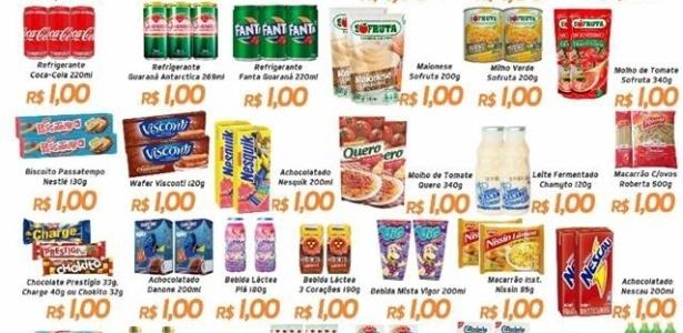 Mercados vendem produtos a R$ 1 folheto do Ítalo Supermercados