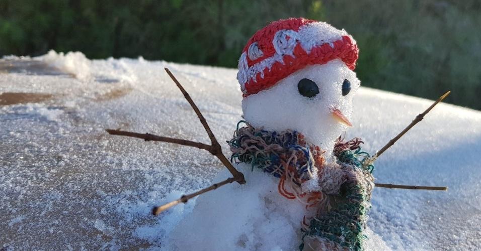 06.Jul.2018 - O Município de São Joaquim, no alto da Serra Catarinense, voltou a registrar temperaturas abaixo de zero